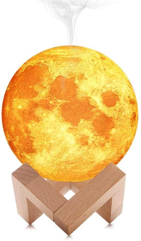 Lampa i ovlaživač vazduha u obliku meseca