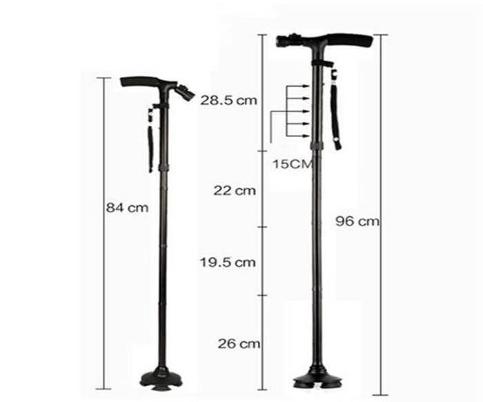 Sklopivi štap za hodanje sa lampom